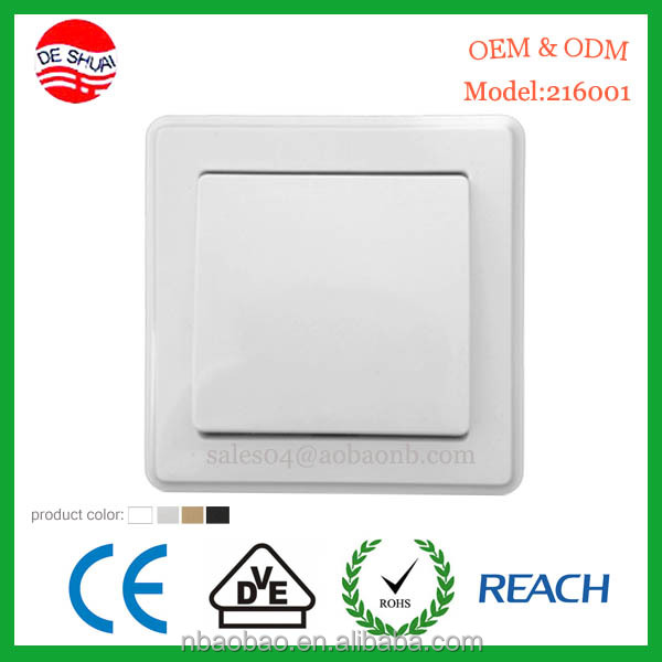Electrical Socket / Switch with VDE certificate for Europe Market
