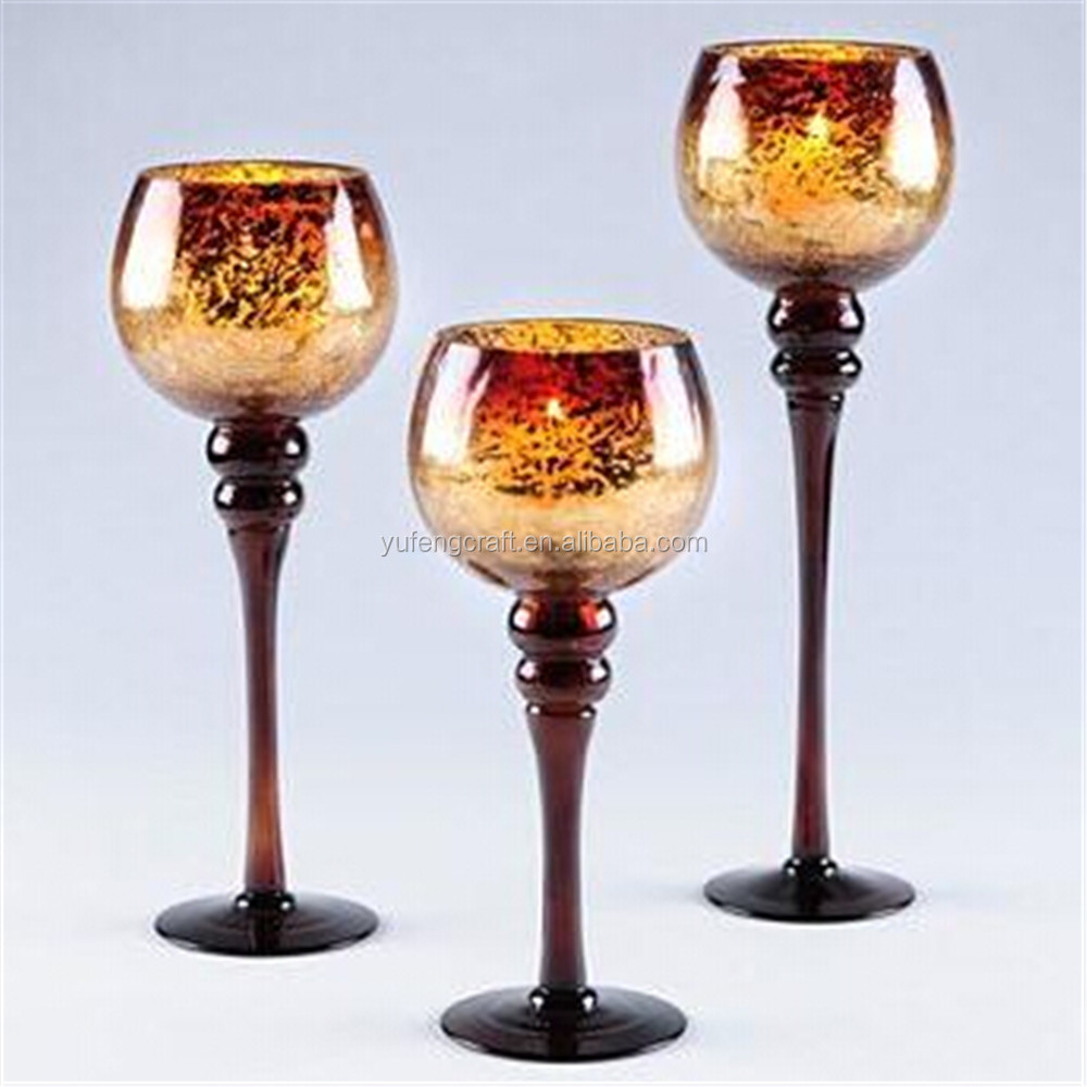 Gold Mercury Glass Gold Mercury Glass Goblet Holiday
