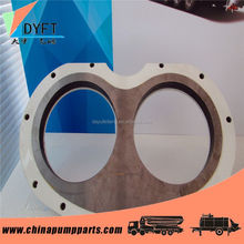 concrete pumping spare part sermac spectacle wear plate and cutting ring with producing