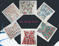 wholesale fashion girls Flamingos, chicken, fox, beach shoes, the little mermaids frocks girls dress hot sale remake clothes