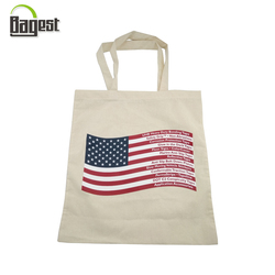 100% natural printed calico canvas shopping tote cotton bag