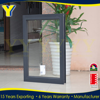 Aluminum alloy profile double toughed glass fixed windows price