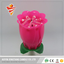 Flower Lotus Music Magic Birthday Candle with 8 pieces