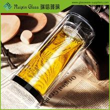 RuixinGlass drinking glass with filter,tea filter water bottle