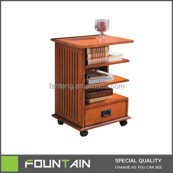 Living Room Furniture Wood Small Portable Bookshelf With Wheels Buy Portable Bookshelf Small