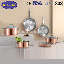 Custom design available stainless steel cookware parts price