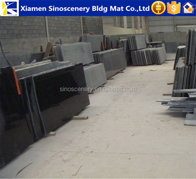 China black granite stone tiles with various sizes