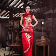 2018 New Design Wholesale Pure Silk Chinese Traditional Cheongsam Lady Wears