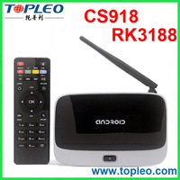 Quad Core Android 4.4 Kodi Pre-installed RK3188 CS918 Smart TV Box