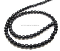 8mm Blackstone round loose beads semi-finished gemstone products