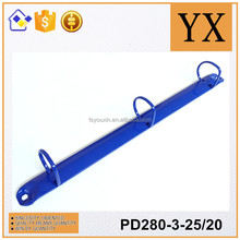 Environmental spray painting blue color metal 3 ring binder clip PD280-3-25/20
