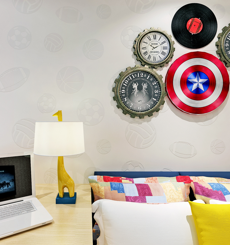 hot selling nonwoven boy room wallpaper