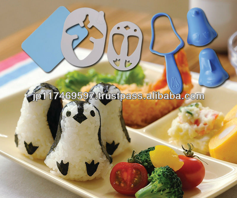 kitchenware kitchen utensils accessories wholesale cookware cutter set animal penguin toy rice ball set kids lucnh bento boxes