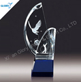 semicircle crystal trophy for golf award