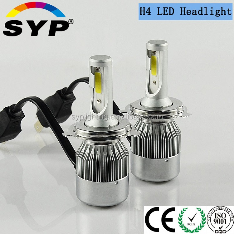Motor parts accessories H4 high low beam led h4 headlights 72w motorcycle led headlights