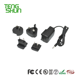 TengShun universal interchangeable AU/US/EU/UK plug usb travel charger 5v2a 9v1.2a power adapter for mobile phone