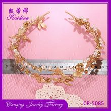 New coming gold butterfly dragonfly bridal wedding hair vine tiaras