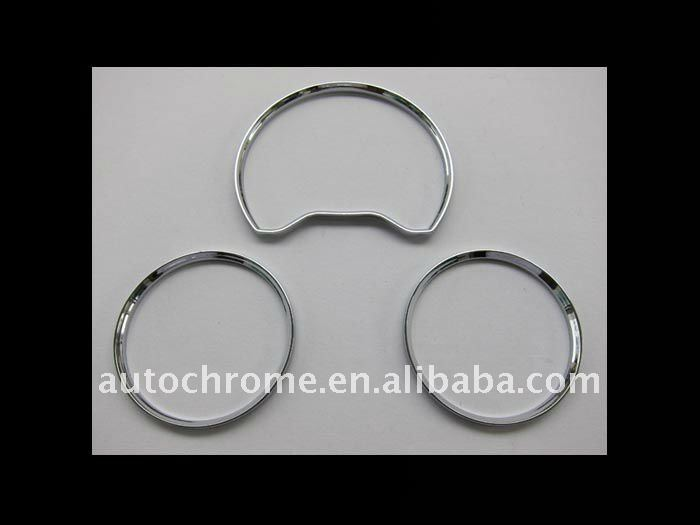 Chrome Dash Board Gauge Ring Set for MercedesBenz W202 96-00