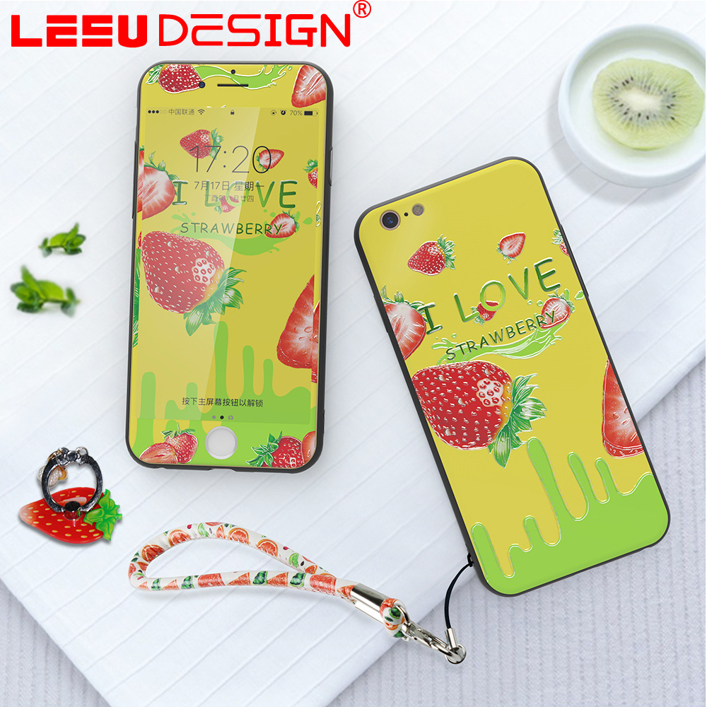 LEEU DESIGN with metal ring with phone sling bulk cell phone case custom for iphone 7