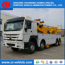 Heavy duty 360 degree rotation 40 ton recovery truck 40 ton wrecker tow truck for sale