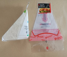 Sandwich packaging bag;triangle sandwich packaging bag