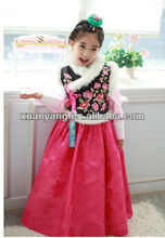 Korean Cute Traditional Princess Dresses For Kids Baby Girl Wedding Dress