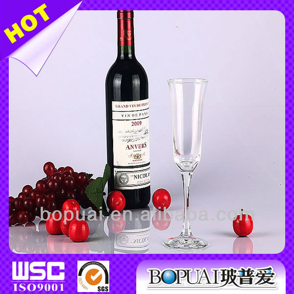 200ml elegant champagne glasses/champagne glasses factory