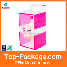 Custom small clear plastic box, hard plastic packaging box for cosmetic