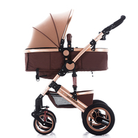 folding baby stroller,Adjustable Handle Anti-shock Elegant Infant Pushchair Pram Baby Stroller Trolley
