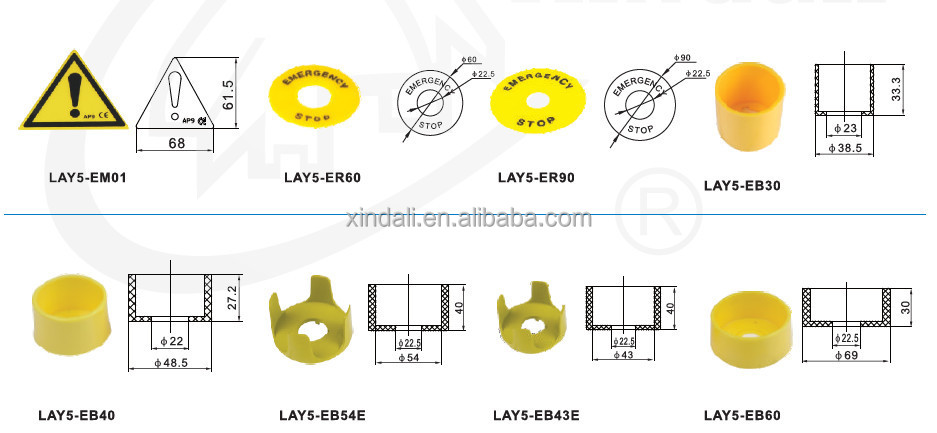 top sale push button switch parts/button protective cover LAY5-EB55E
