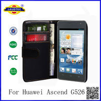 New Arrival 100% Perfect Fit Case for HUAWEI Ascend G526 Wallet Case for HUAWEI G526 Laudtec