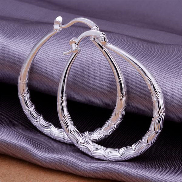 New style personality  silver plated earrings hot selling fashion jewelry high quality factory direct