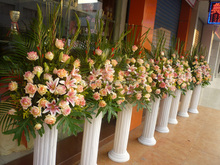 Cheapest with high quality wedding decorating roman stone pillars columns for sale