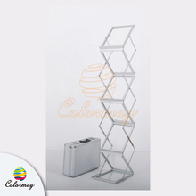 Brochure Holder Foldable Literature Rack for Tradeshow Magazine Rack Catalogue Stand
