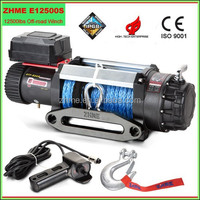 12500lbs high quality off-road heavy duty winch with synthetic rope