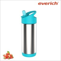 stainless steel water bottle for kids with straw lid wih volume 600ml