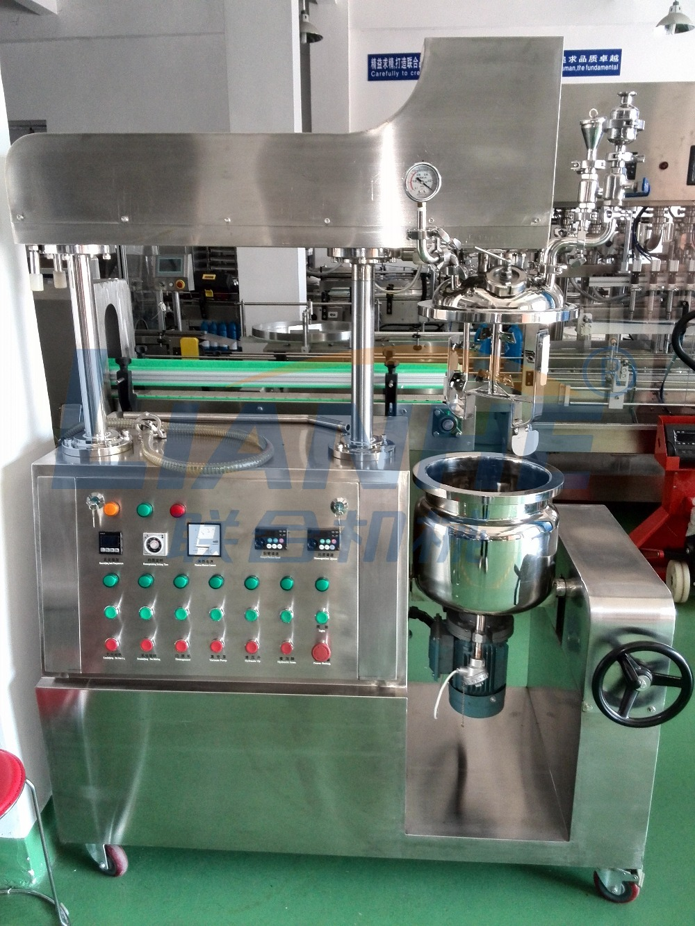 Auto-lifting Vacuum Homogenizer Mixer ,China Professional Supplier Vacuum Cream Mixer Homogenizer