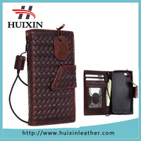 Guangzhou original cowhide leather mens phone wallet for iphone5 , phone wallet for iphone6s