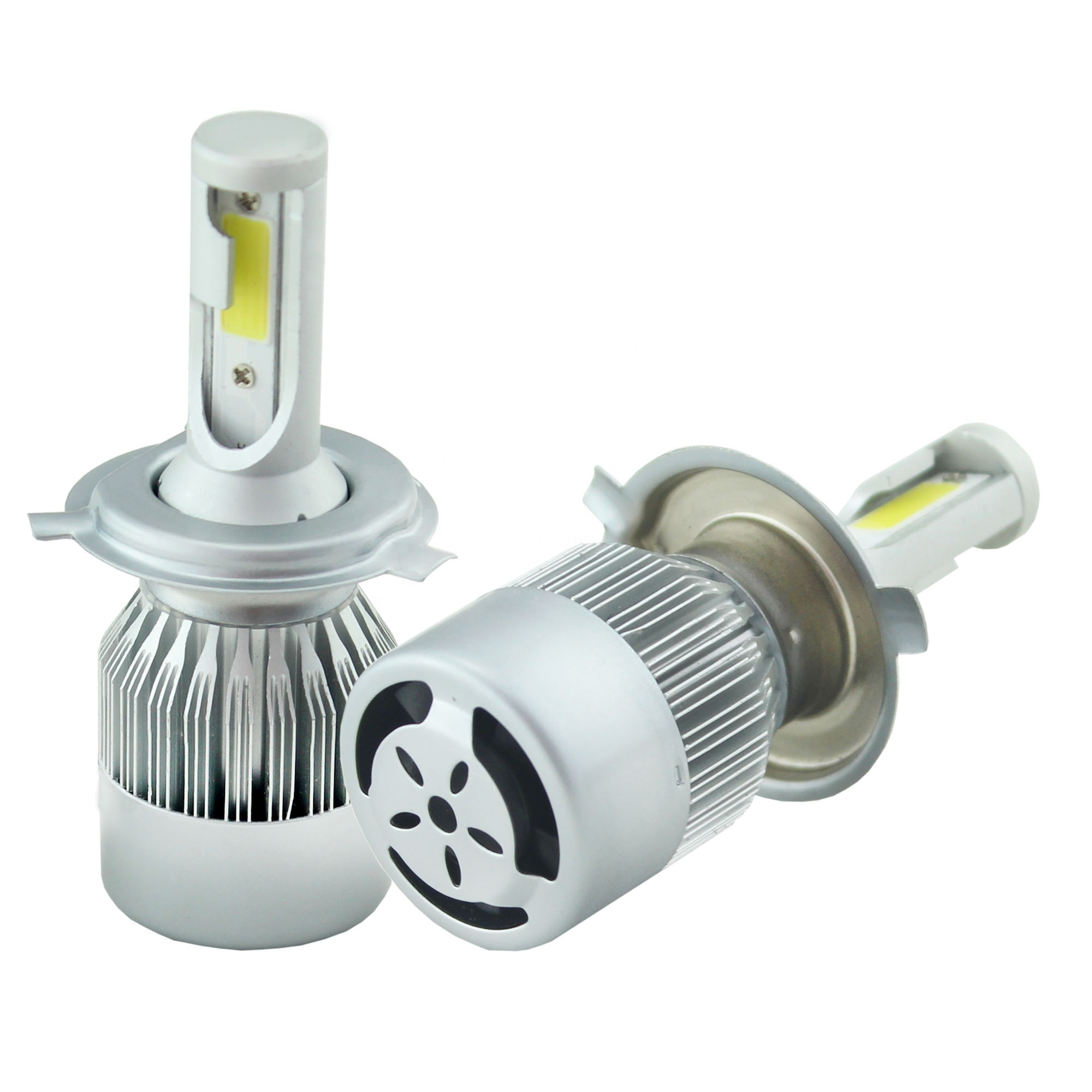 High power All in one kit led auto h4 12v 72w led light h4, 7600lm C6 led headlight <strong>bulbs</strong> h4, lamp led h4