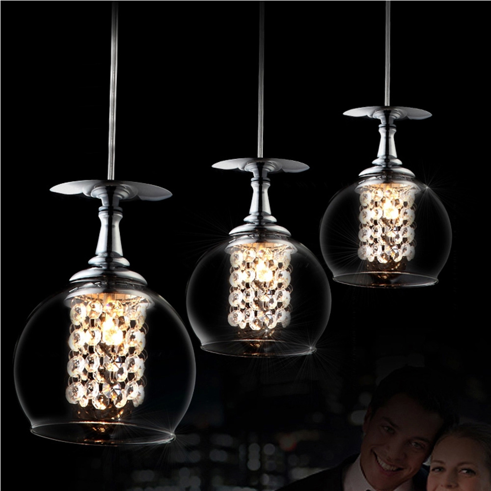 China Crystal Pendant Light Glass Ball Chandelier In
