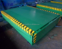Fixed hydraulic loading and unloading ramp for sales