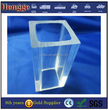 factory wholesale acrylic/plexiglass clear plastic square tube for led lighting
