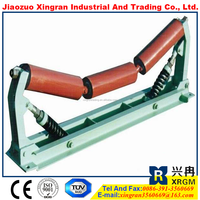 manual steel roller painting rubber belt conveyor idlers double drum vibration roller