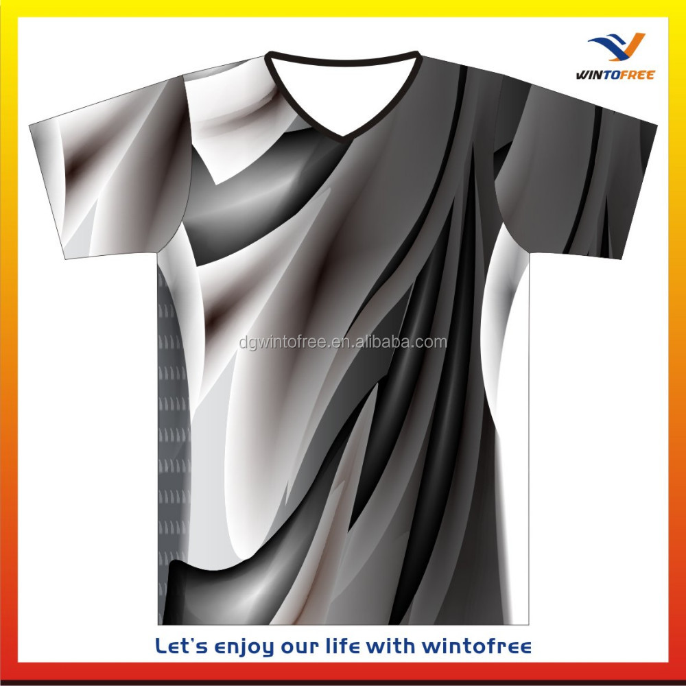 Custom 100% polyester all over sublimation printing t-shirt 5XL