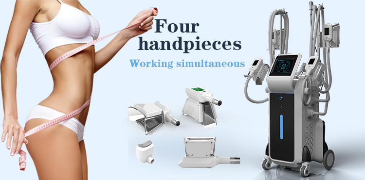 4 cryo handles work together fat freezing weight loss beauty body slimming system