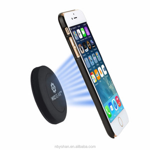 Universal Flat Stick On Dashboard Magnetic Car Mount Holder for Cell Phones and Mini Tablets with Fast Swift-Snap Technology