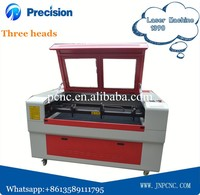 Environment-friendly 1290 diamond laser engraving machine with three heads