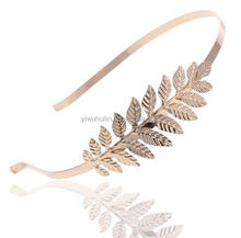 SP310 Yiwu Huilin Jewelry Gold Plated Leaves hair band bride hair ornaments lady accessories