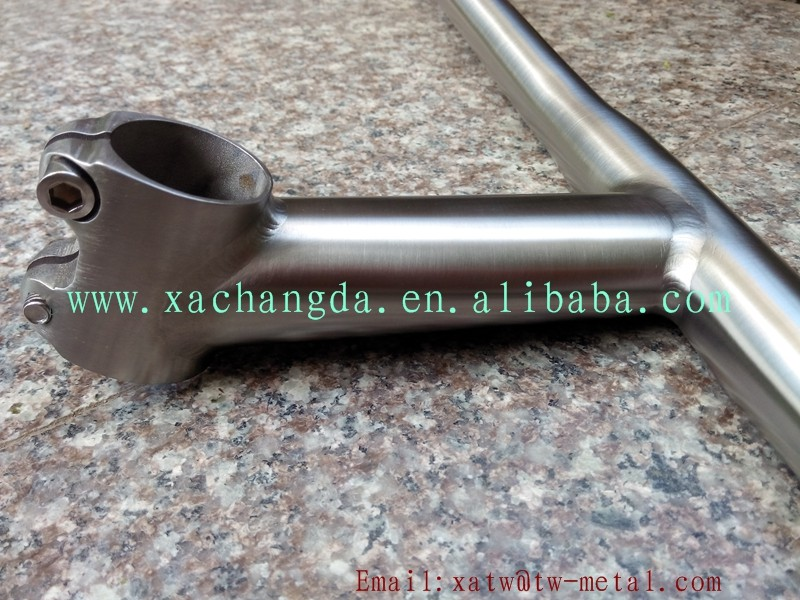 titanium flat handle bar combine with stem Ti flat handle bar combine with stem