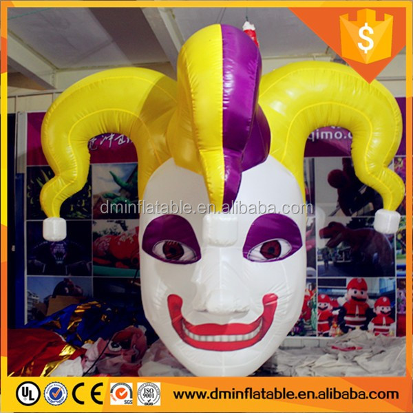 hanged led lighting inflatable clown halloween decorations